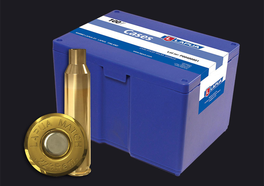 Lapua - .223 Rem. Match Reloading Cases x100 - Box of 100