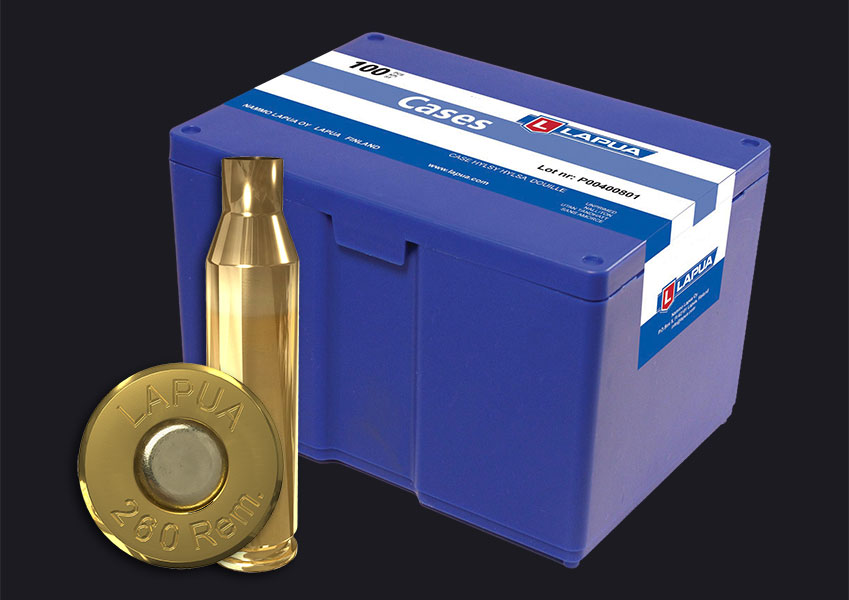 Lapua - .260 Rem. Reloading Cases x 100 - Box of 100