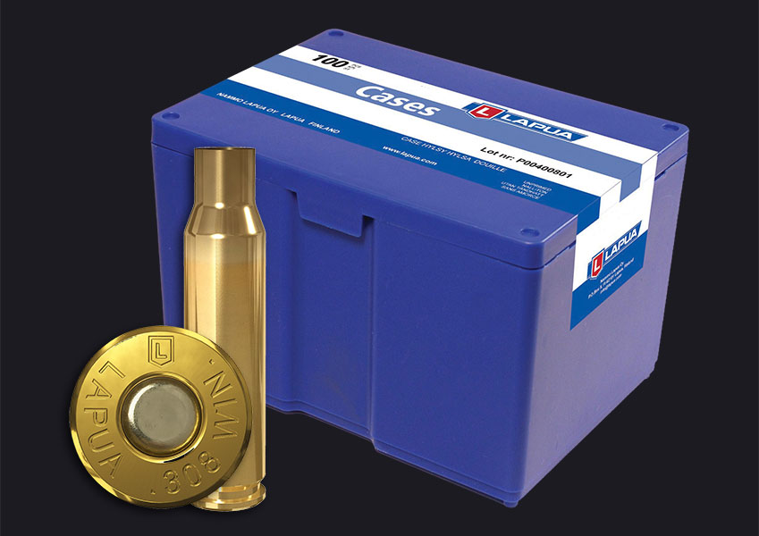 Lapua - .308 Win. Reloading Cases x 100 - Box of 100